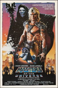 "Masters of the Universe (Cannon, 1987). Rolled, Fine/Very Fine. Video One Sheet (27"" X 41"") SS, Drew Struzan A..."