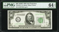 Small Size:Federal Reserve Notes, Fr. 2104-L $50 1934B Federal Reserve Note. PMG Choice Uncirculated 64 EPQ.. ...