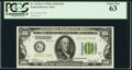 Fr. 2151-G $100 1928A Dark Green Seal Federal Reserve Note. PCGS Choice New 63