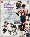 Autographs:Photos, Walter Payton Signed Print. ...