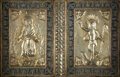 Silver & Vertu, A Russian Gilt Silver and Cloisonné Enameled Book Cover, 19th century . 7-1/4 x 11 inches (18.4 x 27.9 cm). ...