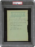 """Baseball Collectibles:Others, 1932 """"Smokey Joe"""" Williams Signed Album Page, PSA/DNA Authentic--One of the Hobby's Rarest Hall of Fame Autographs!..."""
