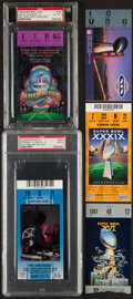 Football Collectibles:Tickets, 1982-2006 Super Bowl Ticket Stubs, Lot of 5.... (Total: 5 items)