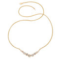 Estate Jewelry:Necklaces, Diamond, Gold Necklace The necklace features r...