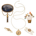 Estate Jewelry:Lots, Diamond, Multi-Stone, Cultured Pearl, Seed Pearl, Gold Jewelry. ... (Total: 5 Items)