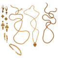 Estate Jewelry:Lots, Freshwater Cultured Pearl, Enamel, Gold Jewelry