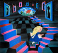 Animation Art:Concept Art, Mary Blair Alice in Wonderland Entrance to Wonderland Concept/Color Key Painting (Walt Disney, 1951)....