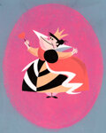 Animation Art:Concept Art, Mary Blair Alice in Wonderland Queen of Hearts Character/Concept Painting (Walt Disney, 1951)....