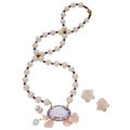Estate Jewelry:Suites, Multi-Stone, Freshwater Cultured Pearl, Gold Jewelry Suite...
