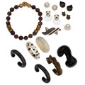 Estate Jewelry:Lots, Agate, Bone, Mabe Pearl, Wood, Lucite, Sterling Silver Jewelry, Patricia Van Musulin. ...