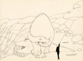 Animation Art:Production Drawing, Winsor McCay Gertie the Dinosaur Animation Drawing Original Art (1914)....