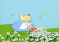 Animation Art:Production Cel, Alice in Wonderland Alice and Dinah Production Cel (Walt Disney, 1951)....