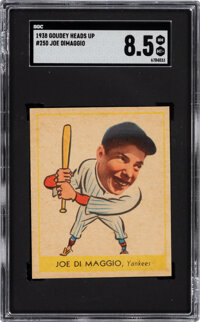 1938 Goudey Heads Up Joe DiMaggio #250 SGC NM-MT 8.5 - Pop One, None Higher!