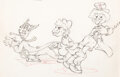 Animation Art:Production Drawing, Mother Goose Goes Hollywood Marx Bro...