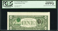 Inverted Third Printing on Back Type II Error Fr. 1915-B $1 1988A Federal Reserve Note. PCGS Extremely Fine 45PPQ