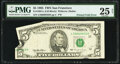 Error Notes:Foldovers, Printed Fold Error Fr. 1985-L $5 1995 Federal Reserve Note. PMG Very Fine 25 Net.. ...