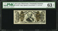 Fractional Currency:Third Issue, Fr. 1333 50¢ Third Issue Spinner PMG Choice Uncirculated 63 EPQ.. ...