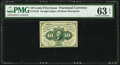 Fr. 1243 10¢ First Issue PMG Choice Uncirculated 63 EPQ