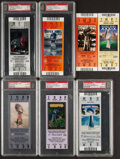 Football Collectibles:Tickets, 2002-2010 Full Super Bowl Tickets, Lot of 7.... (Total: 7 items)