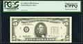 Error Notes:Missing Third Printing, Missing Green Portion of Third Printing Error Fr. 1984-E $5 1995 Federal Reserve Note. PCGS Superb Gem New 67PPQ.. ...