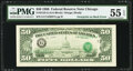 Error Notes:Third Printing on Reverse, Third Printing on Back Error Fr. 2123-G $50 1988 Federal Reserve Note. PMG About Uncirculated 55 EPQ.. ...
