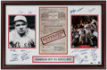 Autographs:Others, 2004 Boston Red Sox Curse of the Bambino Reversed Multi-Signed Print....