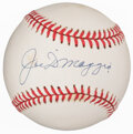 Autographs:Baseballs, Joe DiMaggio Single Signed Baseball. Offered is th...