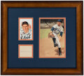 Autographs:Index Cards, Hal Newhouser Signed Cut Display. Offered is a di...