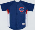 Autographs:Jerseys, Ernie Banks Signed Chicago Cubs Jersey. Offered he...