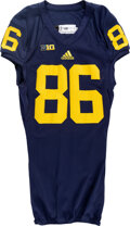 """Football Collectibles:Uniforms, 2013 Jehu Chesson Game Worn, Signed & Inscribed """"First Cat..."""