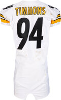 Football Collectibles:Uniforms, 2013 Lawrence Timmons Game Worn & Unwashed Pittsburgh Stee...