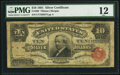 Large Size:Silver Certificates, Fr. 299 $10 1891 Silver Certificate PMG Fine 12.. ...