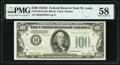 Small Size:Federal Reserve Notes, Fr. 2156-H $100 1934D Federal Reserve Note. PMG Choice About Unc 58.. ...