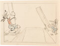 Animation Art:Production Drawing, Mickey's Service Station Animation A...