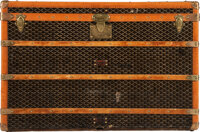 "Goyard Black Goyardine Coated Canvas Steamer Trunk Condition: 4 40"" Width x 27"" Height x 23.75"""