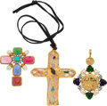 Luxury Accessories:Accessories, Chanel Set of Three: Byzantine Pendants and Brooch...