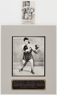 Rocky Marciano Signed Flats, Lot of 2