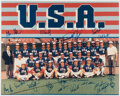 Autographs:Photos, 1984 Team USA Baseball Multi-Signed Oversized Photograph. ...