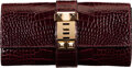 "Luxury Accessories:Bags, Hermès 23cm Shiny Bordeaux Alligator Medor Clutch with Permabrass Hardware. T, 2015. Condition: 2. 9"" Width x 4.5""..."