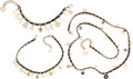Luxury Accessories:Accessories, Chanel x Karl Lagerfeld Set of Three: Woven Chain Necklaces and Bracelet. Condition: 3. See Extended Condition Report ... (Total: 3 )