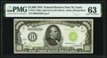 Fr. 2211-H $1,000 1934 Light Green Seal Federal Reserve Note. PMG Choice Uncirculated 63