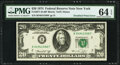 Doubled Print Error Fr. 2071-B $20 1974 Federal Reserve Note. PMG Choice Uncirculated 64 EPQ