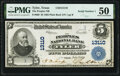 Tyler, TX - $5 1902 Plain Back Fr. 609 The Peoples National Bank Ch. # 13110 PMG About Uncirculated 50