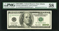 Error Notes:Mismatched Serial Numbers, Mismatched Serial Number Error Fr. 2182-F 2006A $100 Federal Reserve Note PMG Choice About Unc 58.. ...