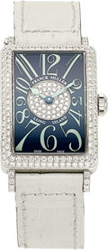 Estate Jewelry:Watches, Franck Muller Lady's Diamond, White Gold Long Island Watch...