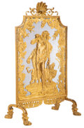 Furniture, A French Gilt Bronze Fire Screen Depicting Heracles with Cerberus, circa 1880. 37-1/2 x 21 x 15 inches (95.3 x 53.3 x 38.1 c...