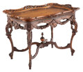 Furniture, A Victorian Carved Hard Wood Low Table, 19th century . 20-5/8 x 30-1/2 x 18-1/4 inches (52.4 x 77.5 x 46.4 cm). Property...