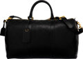 """Luxury Accessories:Travel/Trunks, Chanel Black Quilted Calfskin Leather Duffle Bag with Gold Hardware. Condition: 3. 20"""" Width x 11"""" Height x 9"""" Depth..."""