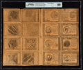 Colonial Notes:Continental Congress Issues, Continental Currency September 26, 1778 $60-$50-$40-$30-$20-$8-$7-$5-$60-$50-$40-$30-$20-$8-$7-$5 Uncut Double Pane Sheet PMG ...