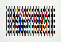 Prints & Multiples, Yaacov Agam (b. 1928). Polymorph, circa 1980. Serigraph polymorph in colors on acrylic. 25 x 36 inches (63.5 x 91.4 cm)...